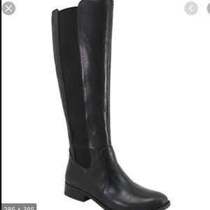 Jessica Simpson black tall leather boots